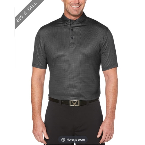 Callaway Swing Tech Printed Gingham Polo Thumbnail