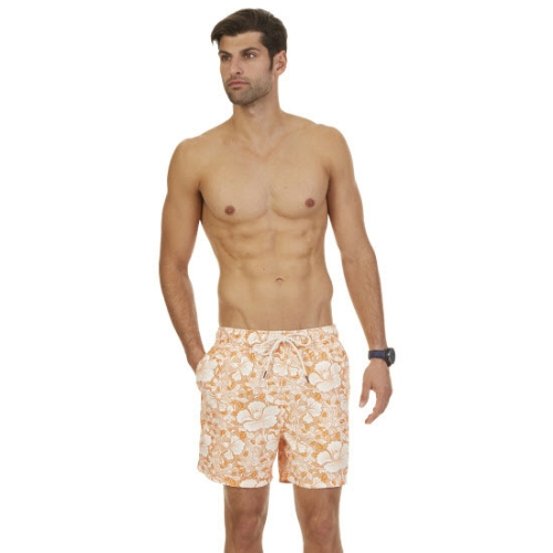 Nautica Floral Print Swim Trunks Thumbnail