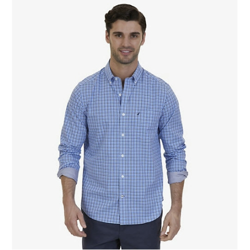 Nautica Marine Mini Plaid Shirt Thumbnail