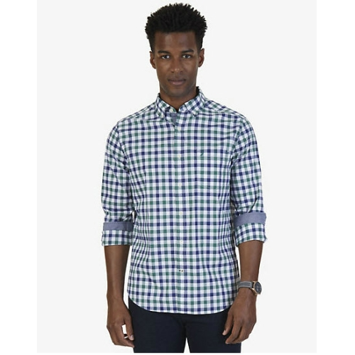 Nautica Stretch Poplin Tattersall Shirt Thumbnail