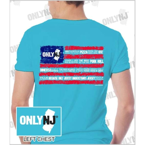 Only NJ Word Flag T-Shirt Thumbnail