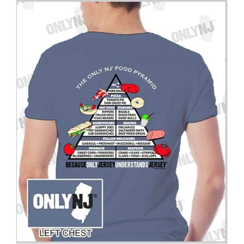 Only NJ Food Pyramid T-Shirt Thumbnail