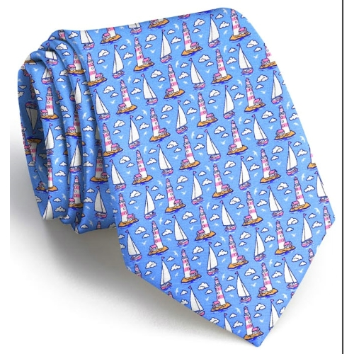 Bird Dog Bay Welcome Me Ashore XL Tie Thumbnail